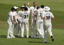Stuart Broad struck twice in a spell, Nottinghamshire v Surrey, County Championship, Division One, Trent Bridge, July 23, 2018
