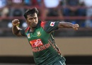 Rubel Hossain celebrates Rovman Powell's wicket, West Indies v Bangladesh, 2nd ODI, Guyana, July 25, 2018