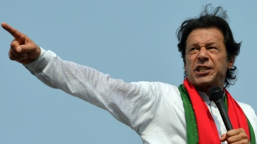 Imran Khan addresses a political rally