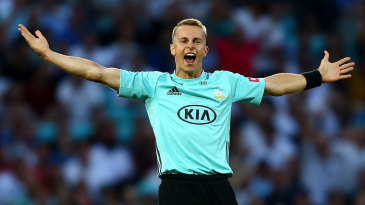 Tom Curran was in the wickets on his comeback from injury