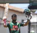 Tamim Iqbal celebrates his 11th ODI hundred, West Indies v Bangladesh, 3rd ODI, Basseterre, July 28, 2018