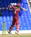 Shai Hope gets on his toes to punch through the covers, West Indies v Bangladesh, 3rd ODI, Basseterre, July 28, 2018