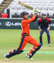Tobias Visee drives a six over cover to bring up his half-century, MCC v Netherlands, MCC Tri-Series, Lord's, July 29, 2018