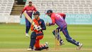 Tobias Visee is bowled after missing a slog sweep, Nepal v Netherlands, MCC Tri-Series, Lord's, July 29, 2018