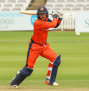 Wesley Barresi hammers a drive through the covers for a boundary, Nepal v Netherlands, MCC Tri-Series, Lord's, July 29, 2018
