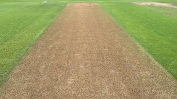 The Edgbaston surface two days before the first Test