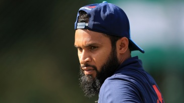 Adil Rashid during a practice session