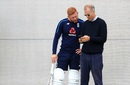 Jonny Bairstow with national team selector Ed Smith, Edgbaston, July 31, 2018