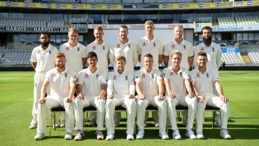 England players pose for the team photo