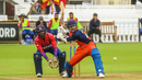 Michael Rippon winds up for a slog sweep, Nepal v Netherlands, MCC Tri-Series, Lord's, July 29, 2018