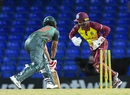 Tamim Iqbal was stumped first ball of the innings, West Indies v Bangladesh, 1st T20I, St Kitts, July 31, 2018