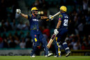 Andrew Salter and Graham Wagg celebrate victory, Surrey v Glamorgan, Vitality T20 Blast, South Group, Kia Oval, July 31, 2018