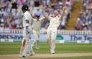 Ben Stokes roars after getting Ajinkya Rahane's wicket, England v India, 1st Test, 2nd day, Edgbaston, 2 August, 2018