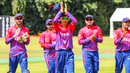 Shakti Gauchan thanks the fans as he leads the team off the field in Nepal's maiden ODI, Netherlands v Nepal, 1st ODI, Amstelveen, August 1, 2018