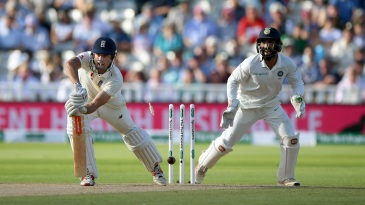 Alastair Cook was out to R Ashwin off the day's final ball