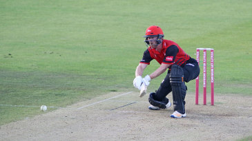Paul Collingwood lines up a reverse sweep