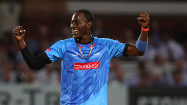 Jofra Archer secured victory with a hat-trick