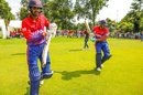 Anil Sah and Gyanendra Malla walk out to open Nepal's maiden ODI innings, Netherlands v Nepal, 1st ODI, Amstelveen, August 1, 2018