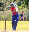 Gyanendra Malla punches a cover drive, Netherlands v Nepal, 1st ODI, Amstelveen, August 1, 2018