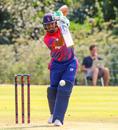 Gyanendra Malla punches a cover drive, Netherlands v Nepal, 1st ODI, Amstelveen, August 1, 2018