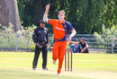 Fred Klaassen celebrates after taking another wicket, Netherlands v Nepal, 1st ODI, Amstelveen, August 1, 2018