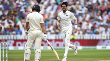 Ishant Sharma roars after getting Dawid Malan with a beauty