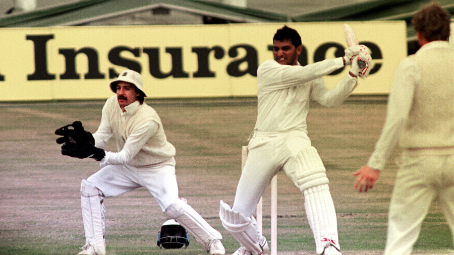 Mohammad Azharuddin made 179 - the highest score by an India captain in England - at Old Trafford in 1990