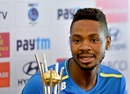 Khaya Zondo at the pre-match press conference, Bangalore, August 3, 2018