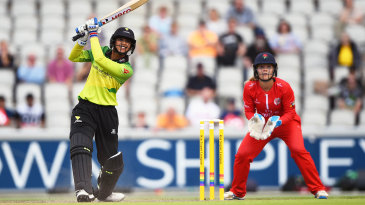 Smriti Mandhana launches one over the top