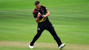 Jamie Overton claims another wicket for Somerset