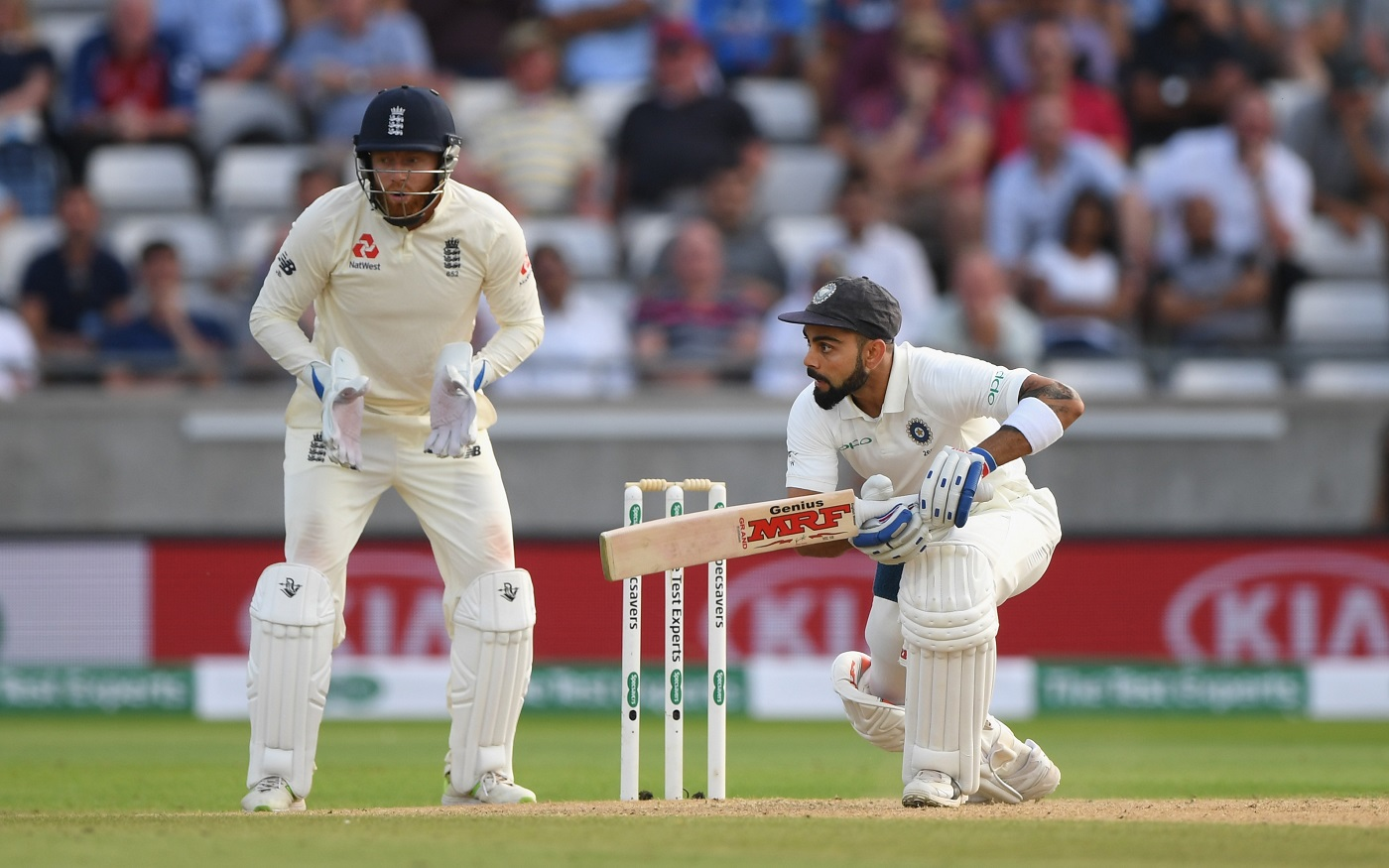 ENG vs IND 2018: Virat Kohli Equals The Likes Of Sachin Tendulkar And Rahul Dravid After Scoring 50-Plus In Both Innings Of Edgbaston Test