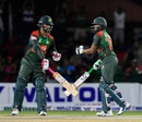 Tamim Iqbal and Shakib Al Hasan strung together a match-winning partnership, West Indies v Bangladesh, 2nd T20I, Lauderhill, August 4, 2018