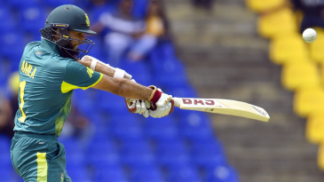 Hashim Amla cuts one away