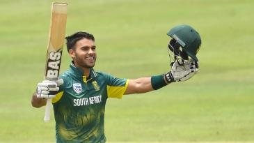Reeza Hendricks soaks in his debut ODI hundred