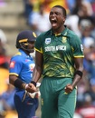 Lungi Ngidi roars after dismissing Upul Tharanga, Sri Lanka v South Africa, 3rd ODI, Pallekele, August 5, 2018