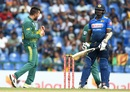 Tabraiz Shamsi celebrates Angelo Mathews' wicket, Sri Lanka v South Africa, 3rd ODI, Pallekele, August 5, 2018