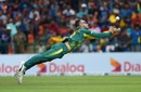 Faf du Plessis goes for a catch, Sri Lanka v South Africa, 3rd ODI, Pallekele, August 5, 2018