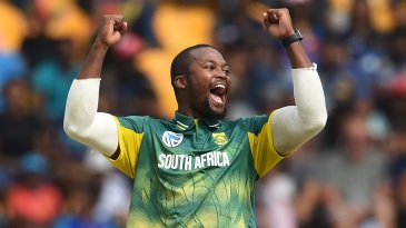 Andile Phehlukwayo rejoices after taking a wicket
