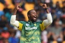 Andile Phehlukwayo rejoices after taking a wicket, Sri Lanka v South Africa, 3rd ODI, Pallekele, August 5, 2018