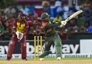 Liton Das mows one over the leg side, West Indies v Bangladesh, 3rd T20I, Lauderhill, August 5, 2018
