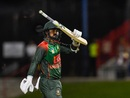 Liton Das celebrates his fifty, West Indies v Bangladesh, 3rd T20I, Lauderhill, August 5, 2018