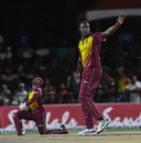 Carlos Brathwaite successfully appeals for a wicket, West Indies v Bangladesh, 3rd T20I, Lauderhill, August 5, 2018