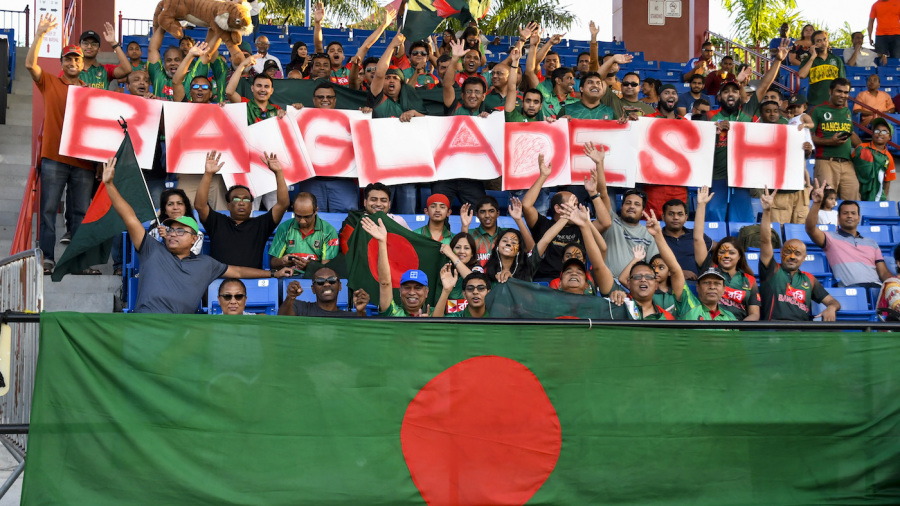 Bangladesh fans showed up in big numbers