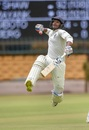 Double-centurion Mayank Agarwal jumps in jubilation, India A v South Africa A, 1st unofficial Test, 2nd day, Bengaluru, August 5, 2018