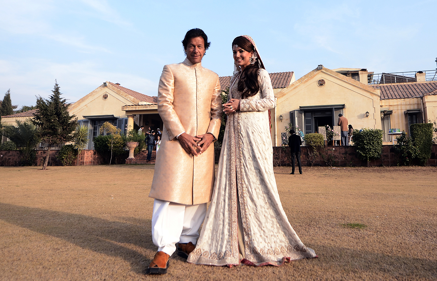 Imran with his second wife, Reham Khan, whom he married and divorced in 2015