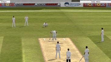 A batsman takes a knock