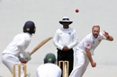 Shaun von Berg bowls at a practice match, Sri Lankan Board Presidents XI v South Africans, 1st day, Colombo, July 7, 2018
