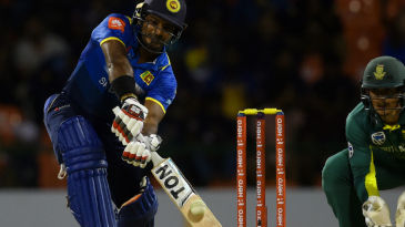 Kusal Perera hits one off the sweet spot of his bat