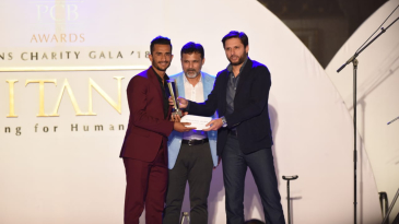 Hasan Ali was named ODI player of the year at the PCB awards