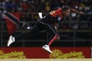 Shannon Gabriel bowls during a CPL game, Trinbago Knight Riders v St Lucia Stars, CPL 2018, Port of Spain, August 8, 2018